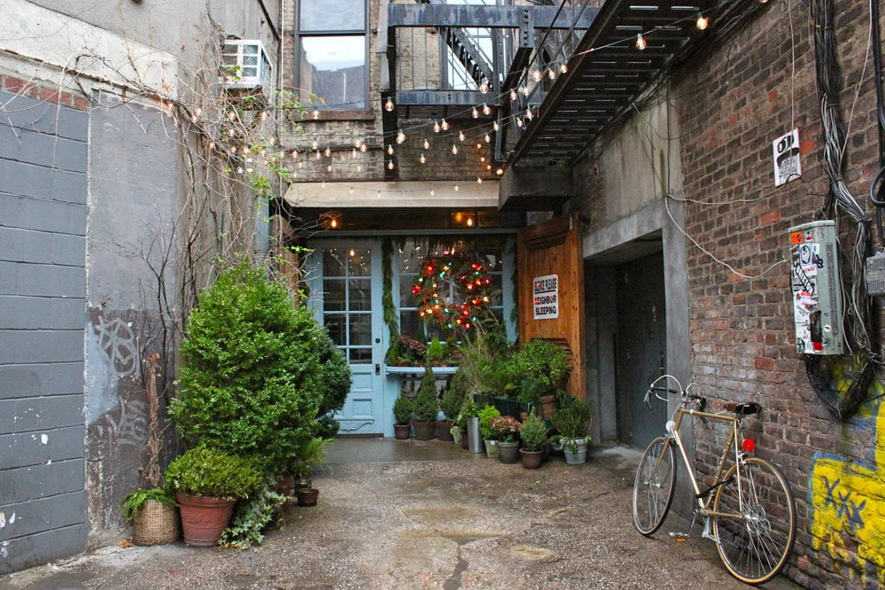 A Restaurant Inside An Alley Named Freemans Behind The