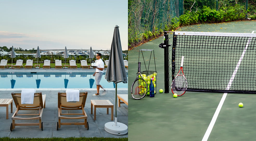 Barons Cove Hotel Sag Harbor Pool and Tenis Court