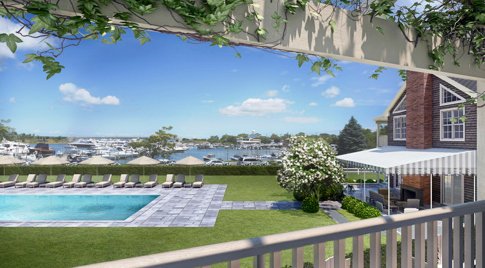 Barons Cove Hotel Sag Harbor Pool View
