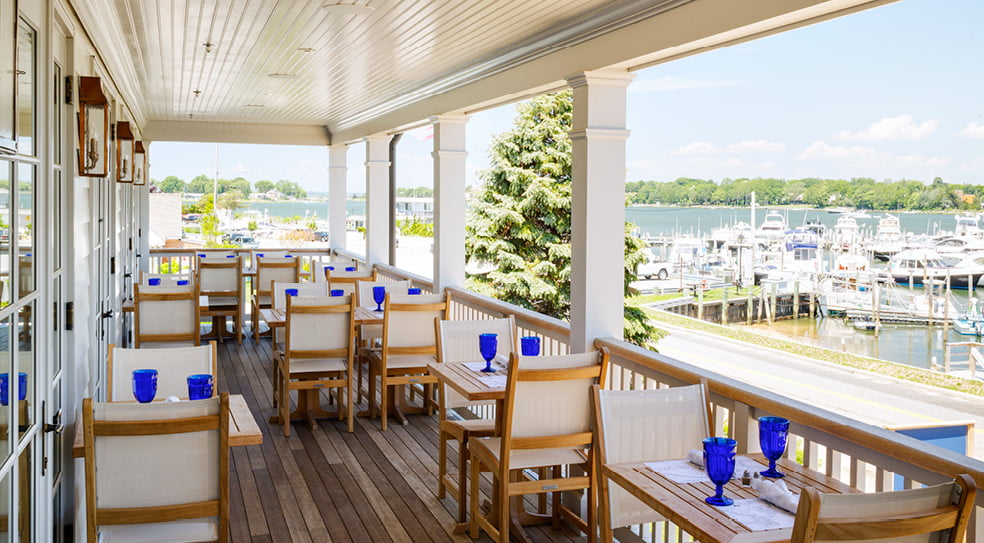 Barons Cove Hotel Sag Harbor Porch