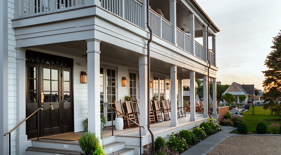 Barons Cove Hotel Sag Harbor Long Porch View