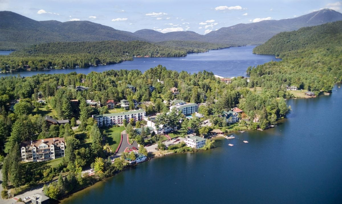 Mirror Lake Inn Lake Placid Bird View