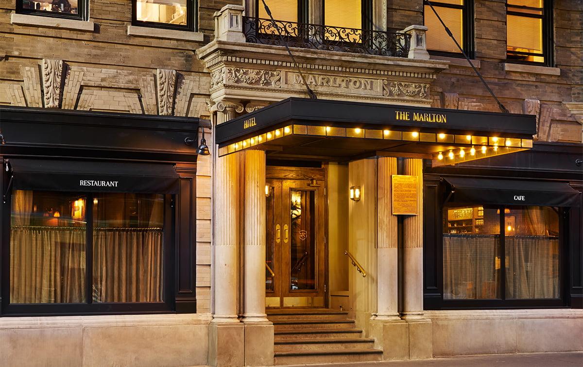 The Marlton Hotel Façade