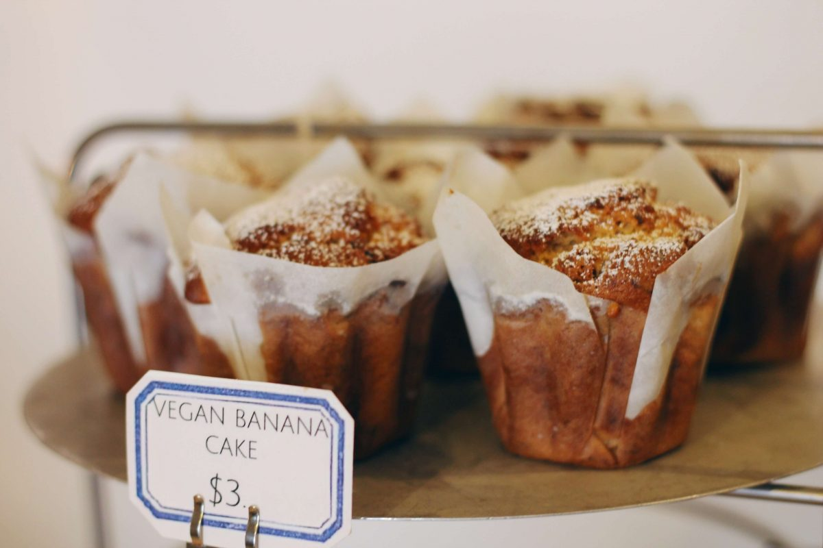 Dining Burrow Bakery Vegan Banana Cake