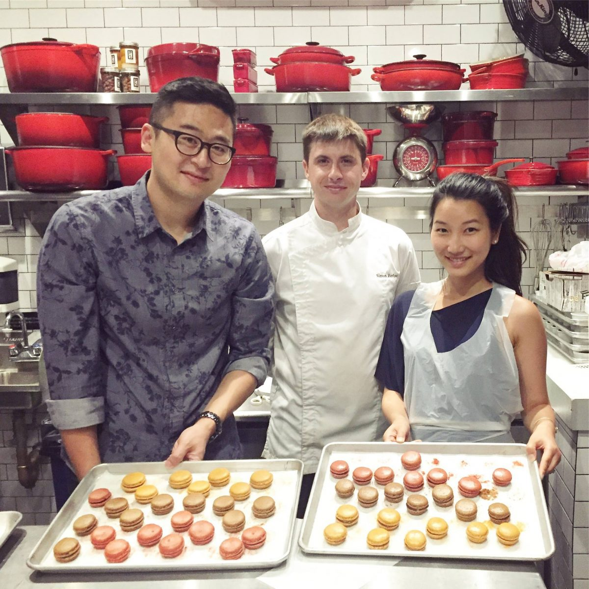 Dining French Encas Sweets Chef Simon with Students