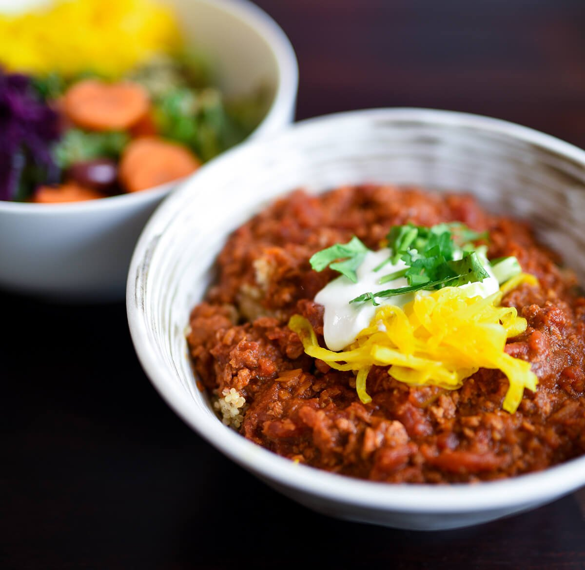 Dining Le Botaniste Restaurant Quinoa and Salad