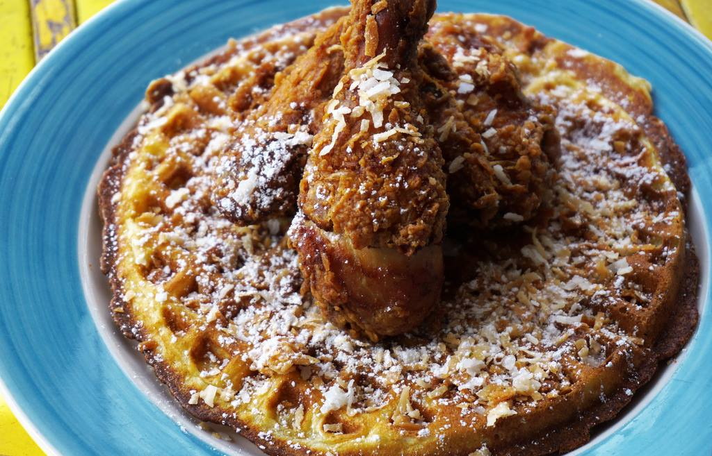 Dining Miss Lilys Restaurant Waffles Chicken