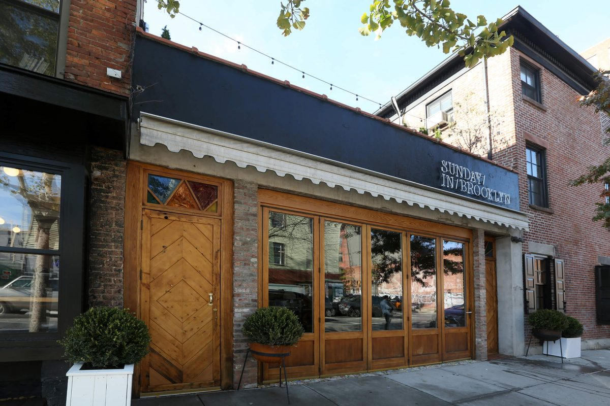 Dining Sunday in Brooklyn Restaurant Exterior
