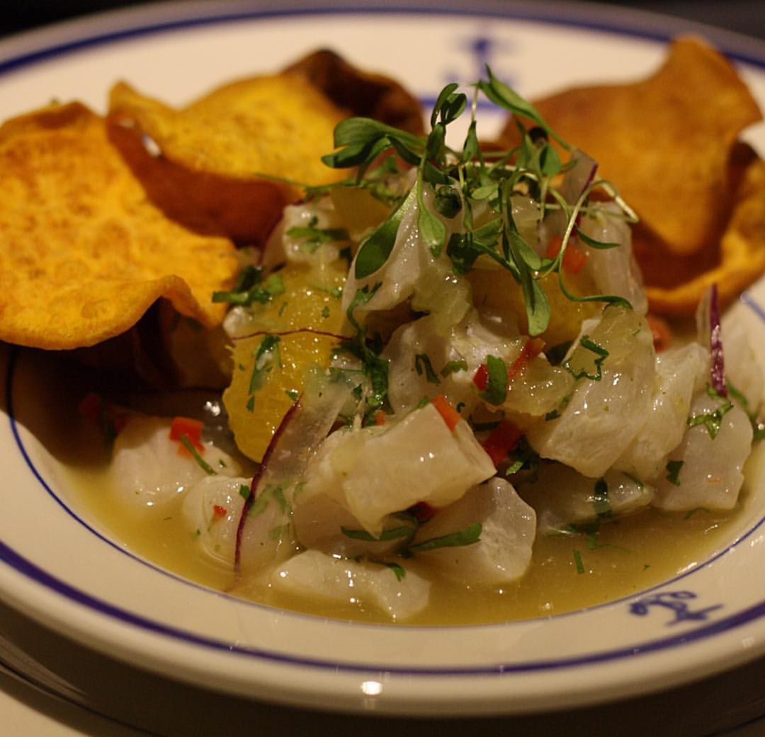 Dining The Ship NYC Restaurant Bar Sea Bass Ceviche