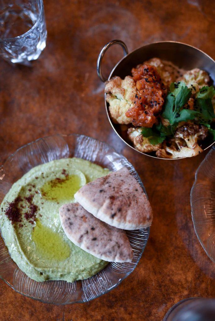 Dining Zizi Limona Restaurant Hummus and Cauliflower
