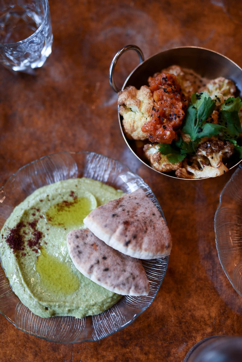 Dining Zizi Limona Restaurant Hummus and Cauliflower