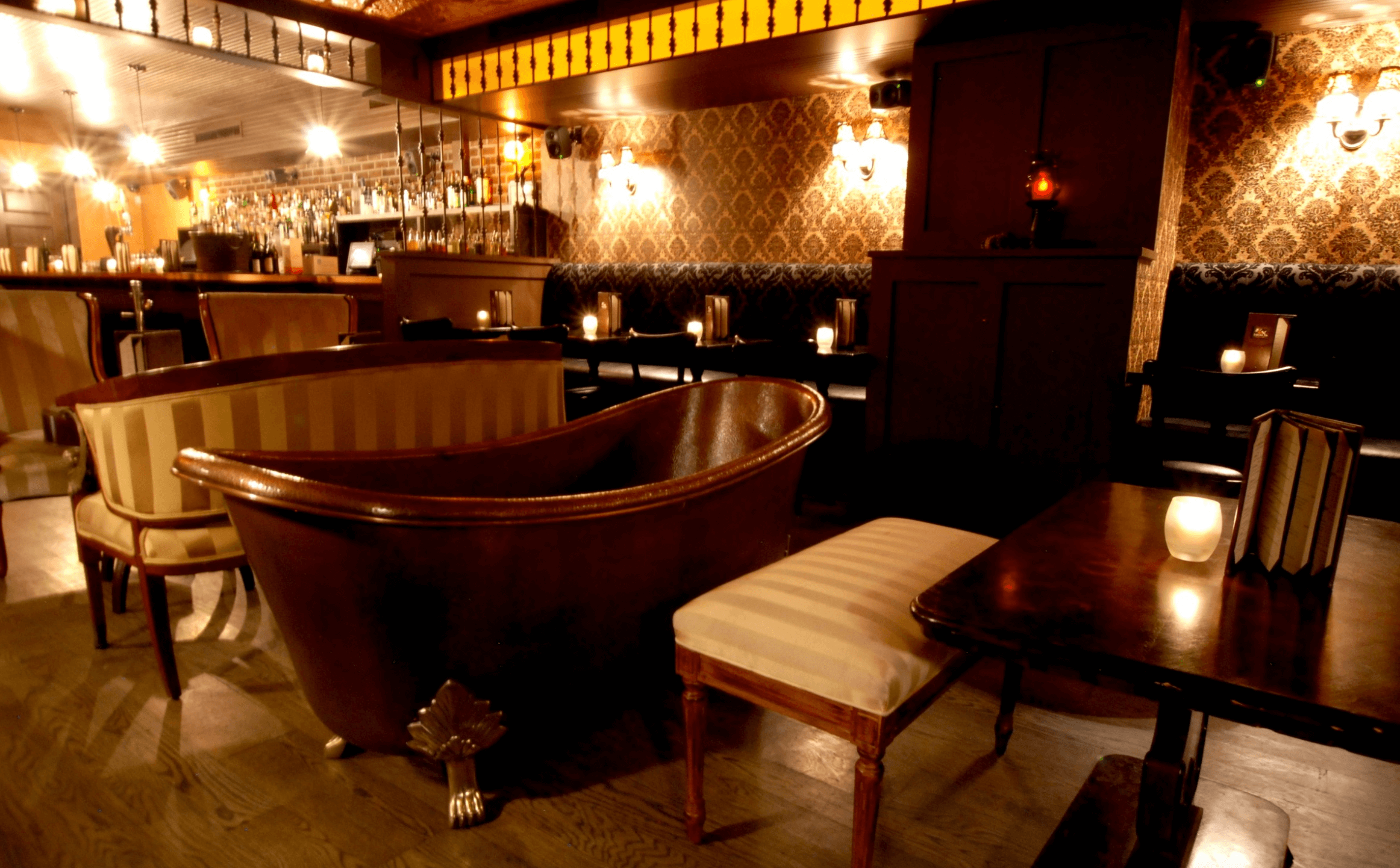 Nightlife Bars Bathtub Gin Speakeasy Decor Tables