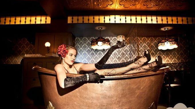 Nightlife Bars Bathtub Gin Speakeasy Girl in Bathtub