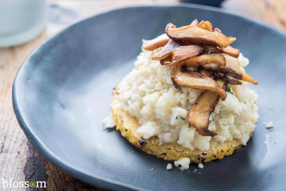 Dining 3 Vegan Restaurants Blossom Cauliflower Risotto