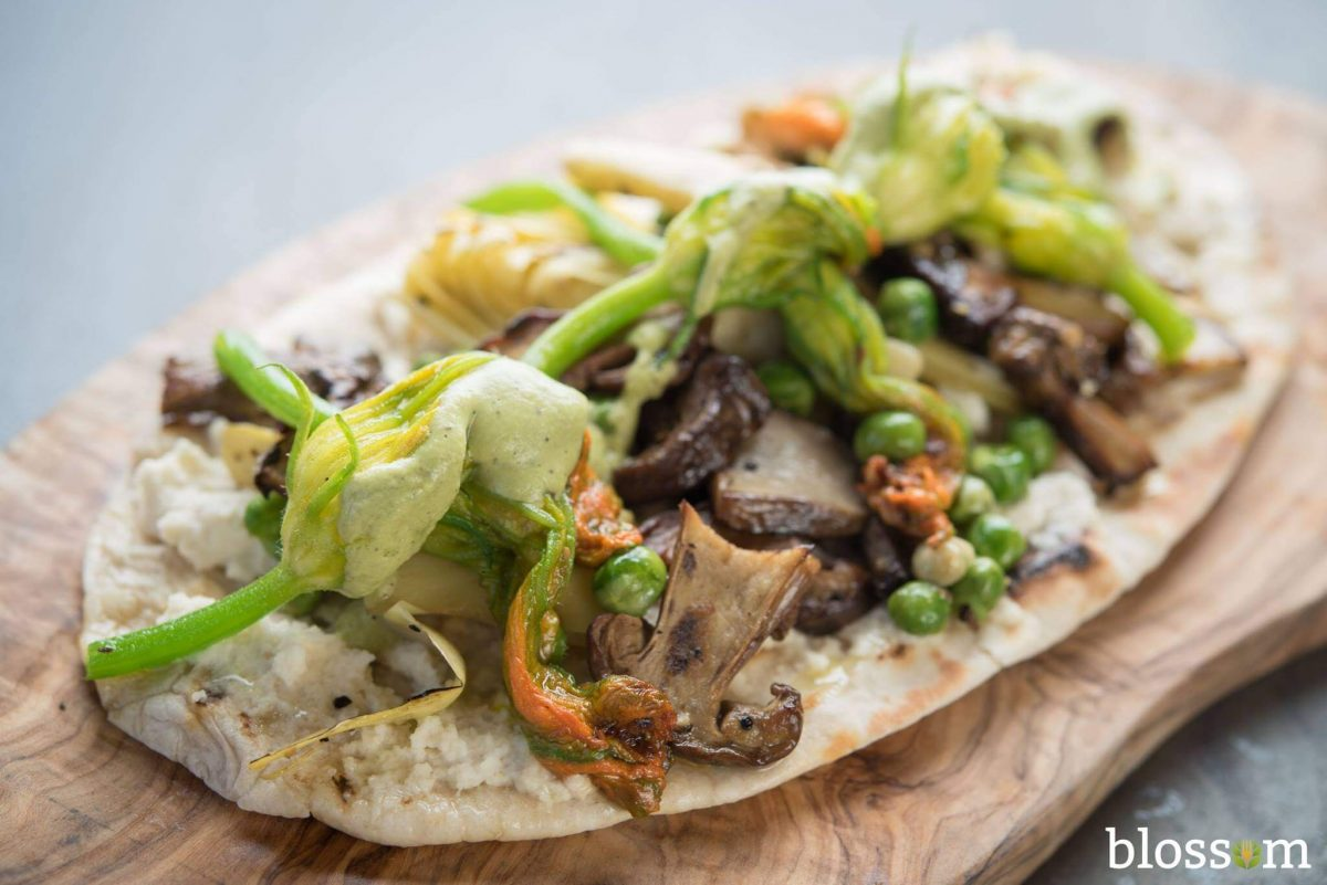 Dining 3 Vegan Restaurants Blossom Freshly Baked Flatbread
