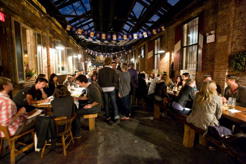 Nightlife Bars Radegast Hall Biergarten Guests