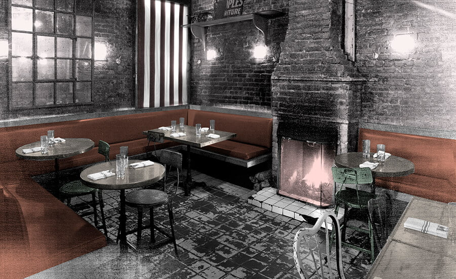 Nightlife Bars Tinys and the Bar Upstairs Fireplace