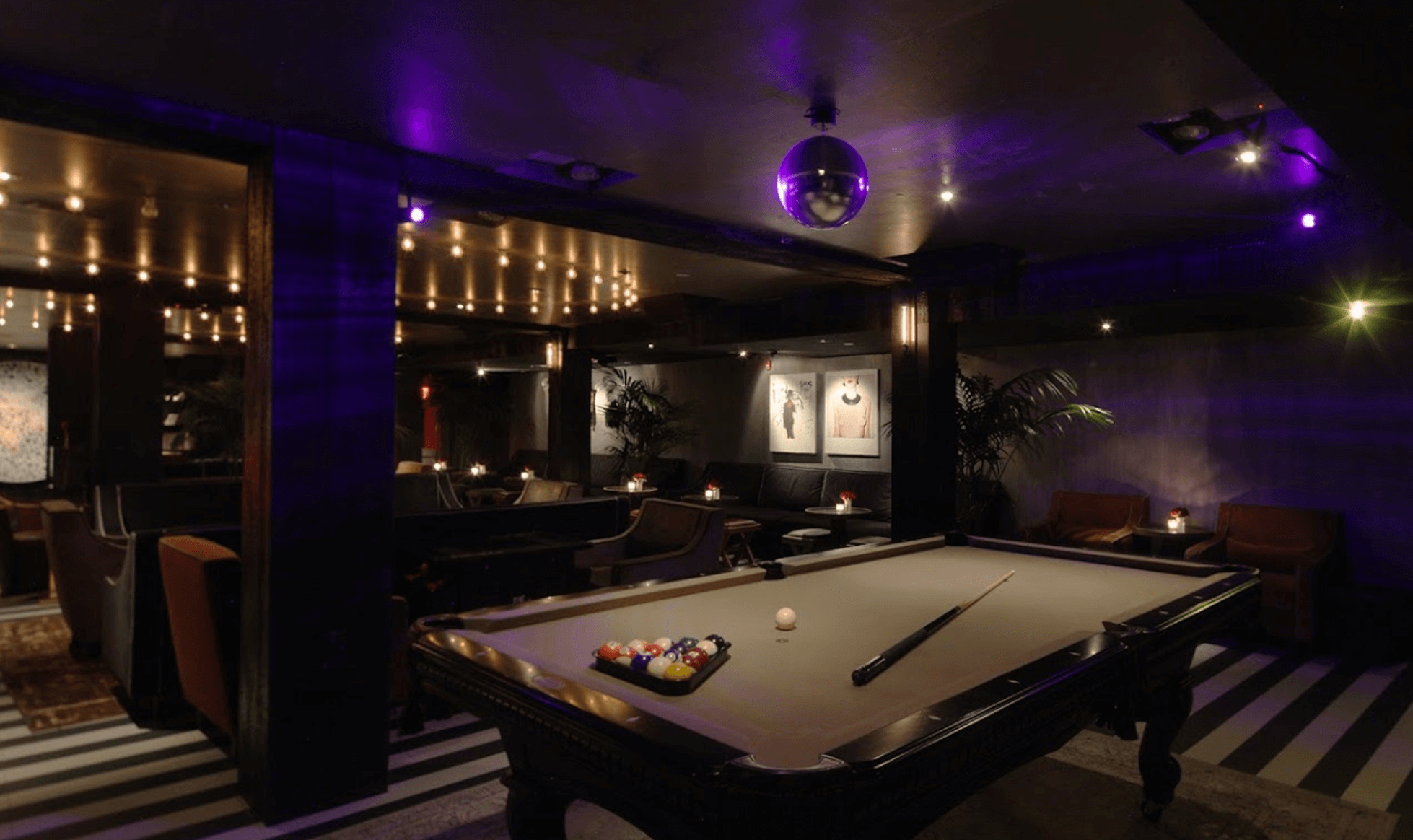 Nightlife Bars Up & Down Pool Table