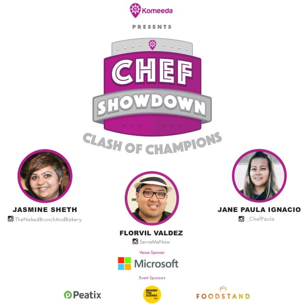 Event Up Coming Komeeda Chef Showdown Clash Flyer