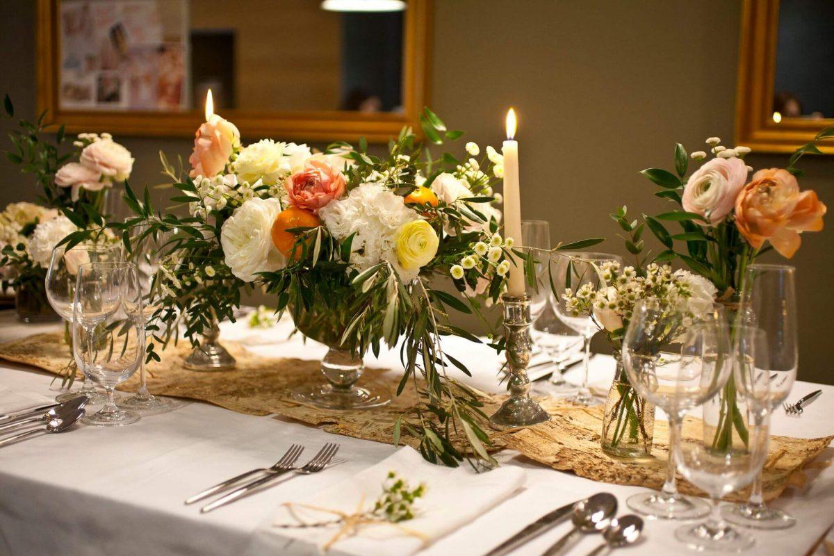 Events On Going Flower School Dinner Table