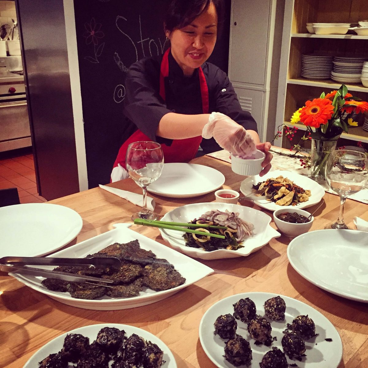 Events Up Coming Banchan Story Cooking Class Delectable Sea Vegetables Chef Shin