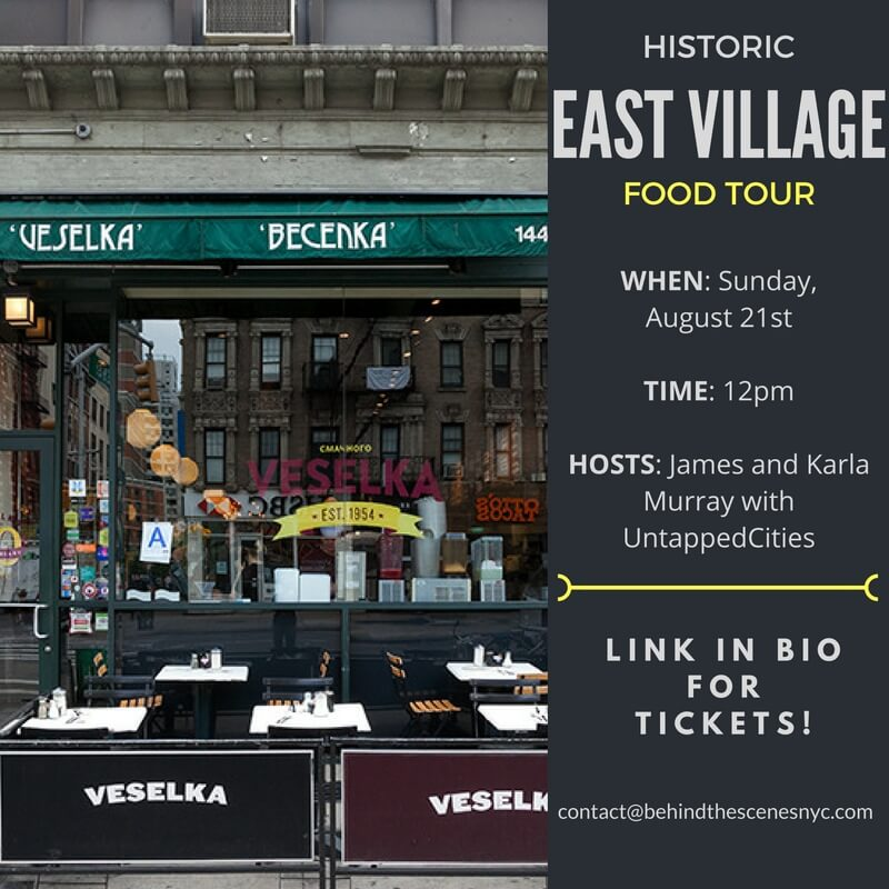 Events Up Coming Historic East Village Food Tour Untapped Cities