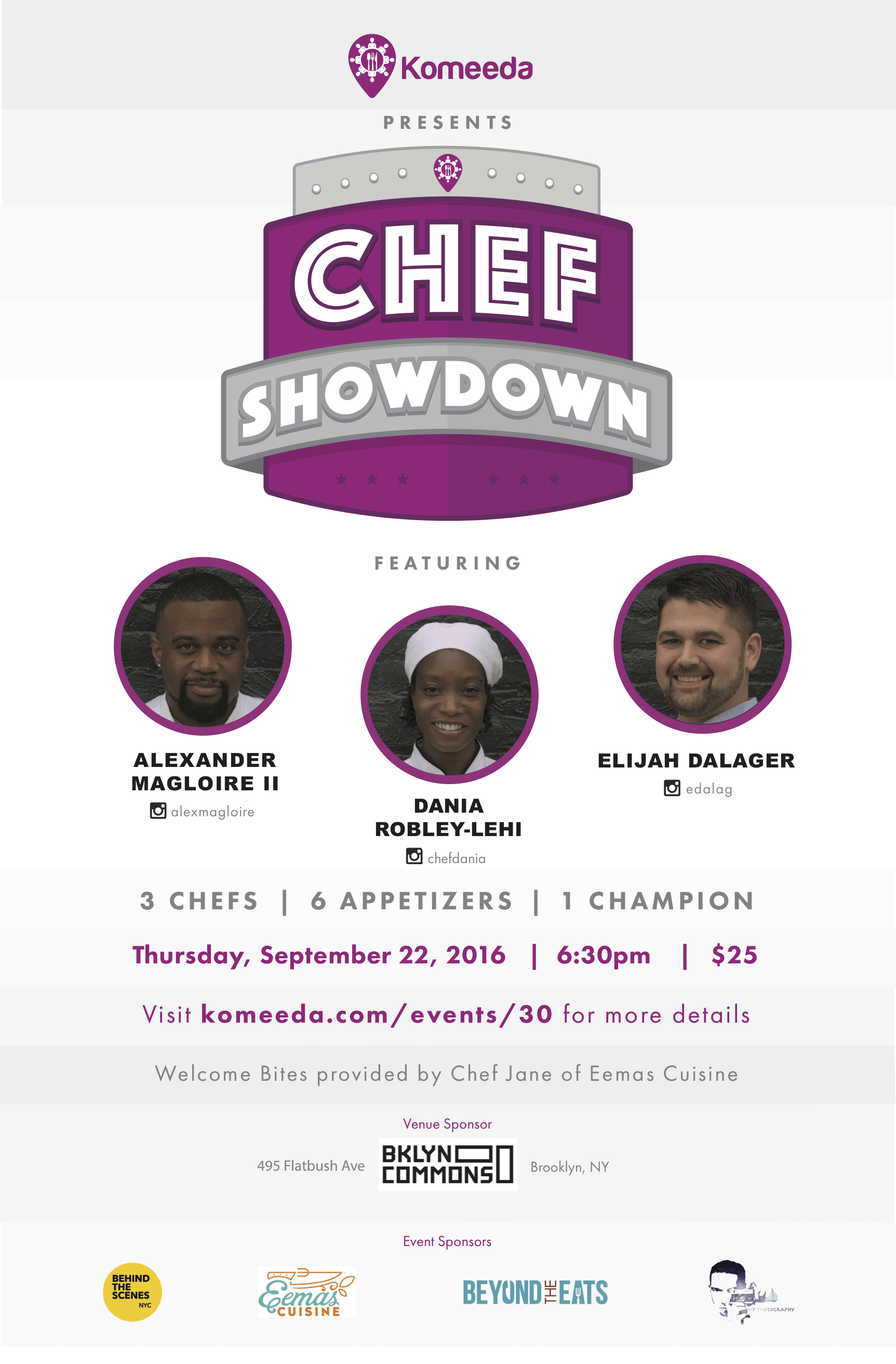 Events Up Coming Komeeda Chef Showdown V 2016 Flyer