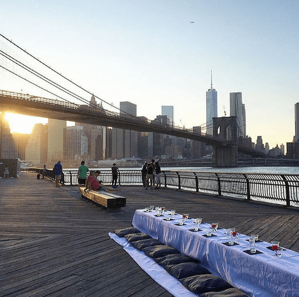 Events Up Coming Komeeda Dinner Under the Bridge Table Brooklyn Bridge