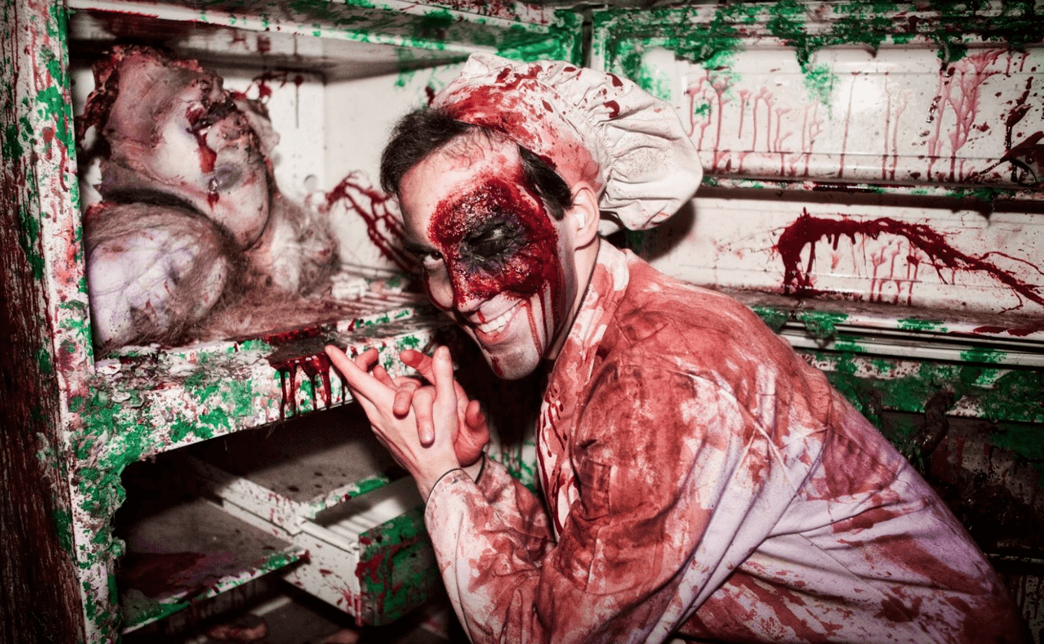 Events Up Coming NYC Halloween Blood Manor Refrigerator