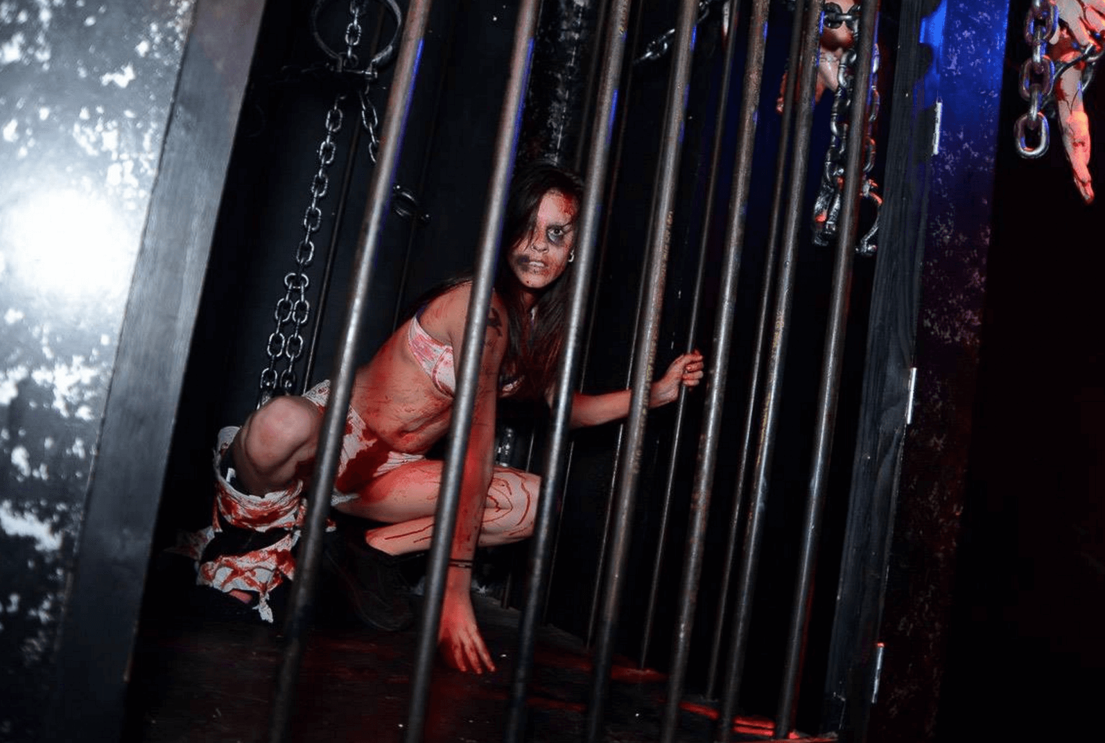 Events Up Coming NYC Halloween Webster Hell at Webster Hall Girl in Cage