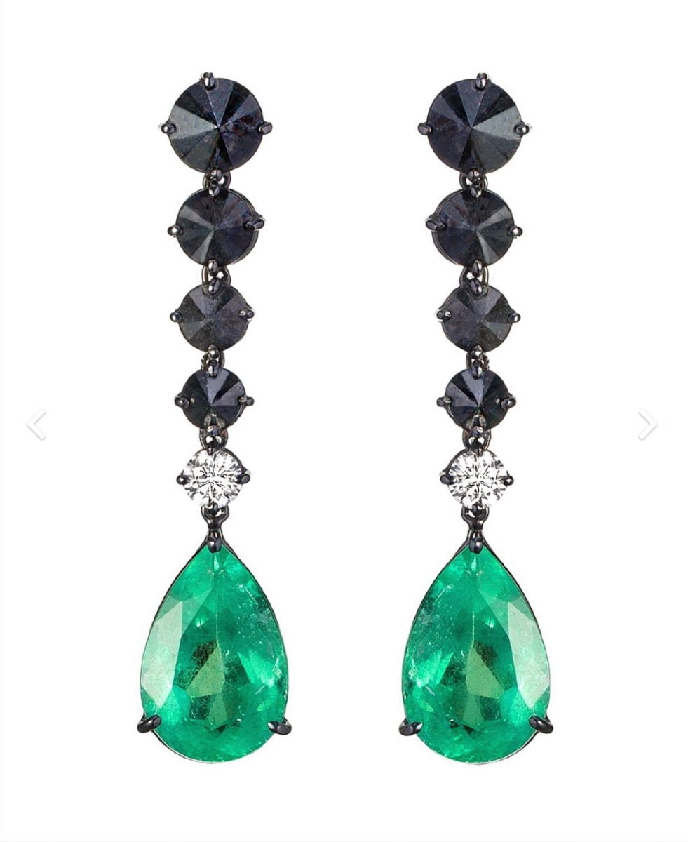 Our Experts Recaps Julls 2016 Jewelry Andrea Conti Emerald Black Diamond Earring