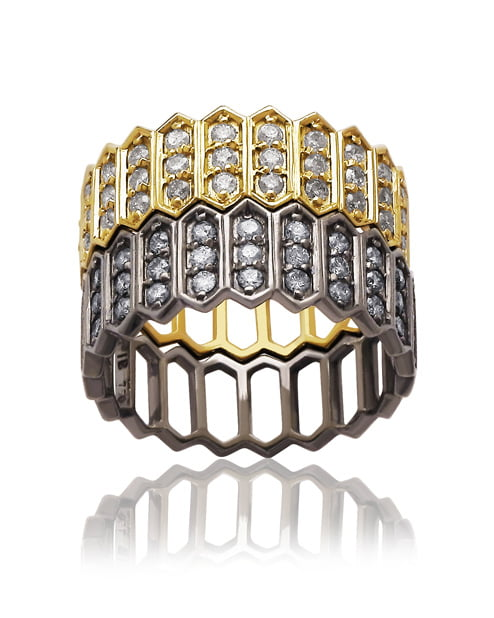 Our Experts Recaps Julls 2016 Jewelry Julia Blini Colmeia Large Rings