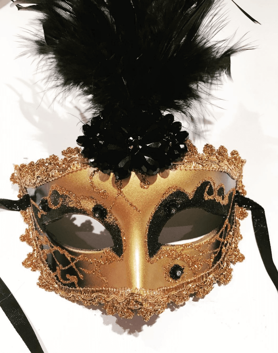 Shop Ladies Dora Marra Jazz Age Lawn Party Golden Mask