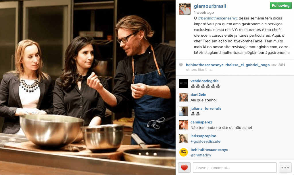 About BTSNYC What The Press Says About BTSNYC Glamour Brasil Chef