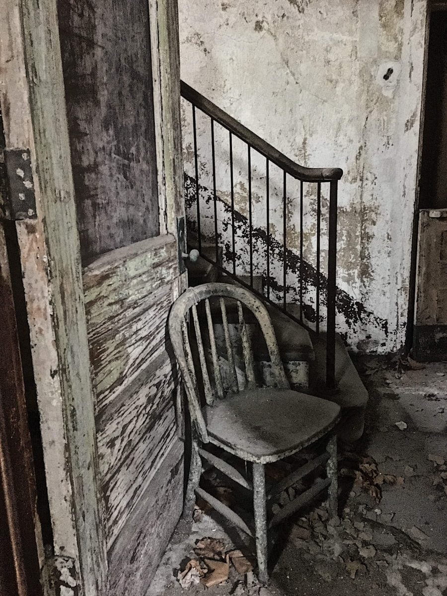 BTSNYC Experiences On Going Abandoned Ellis Island Hospital Tour Chair