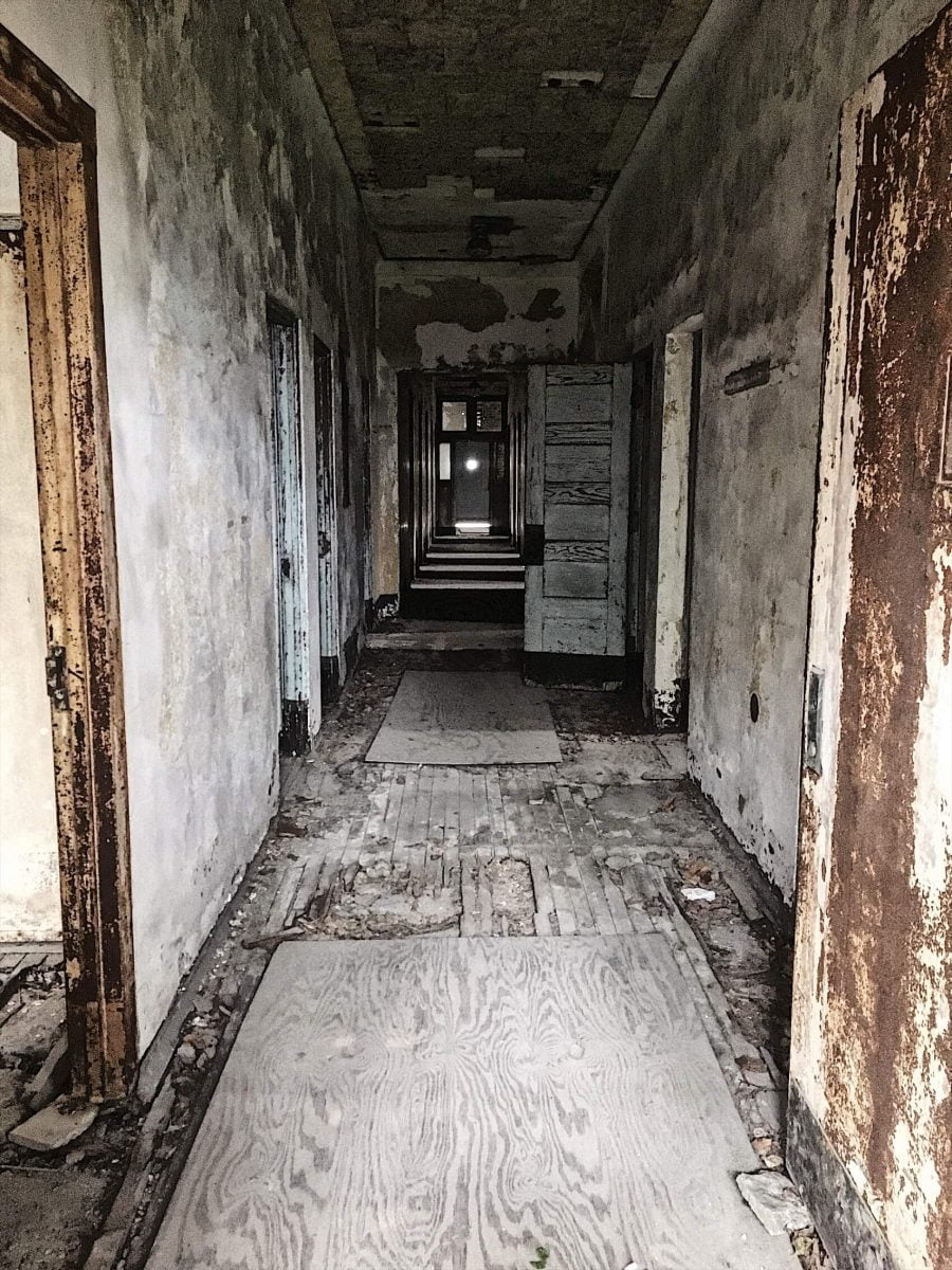 BTSNYC Experiences On Going Abandoned Ellis Island Hospital Tour Corridor