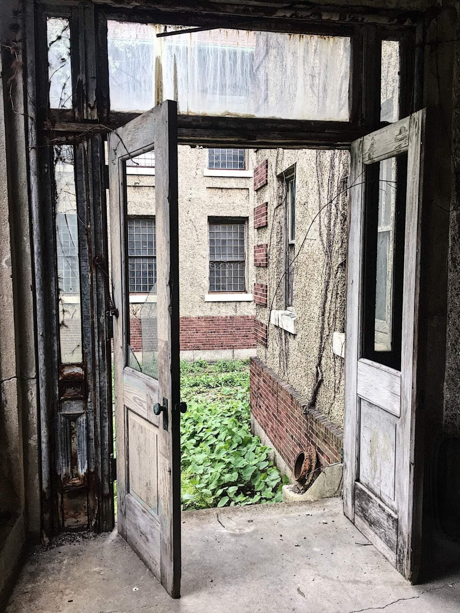 BTSNYC Experiences On Going Abandoned Ellis Island Hospital Tour Door