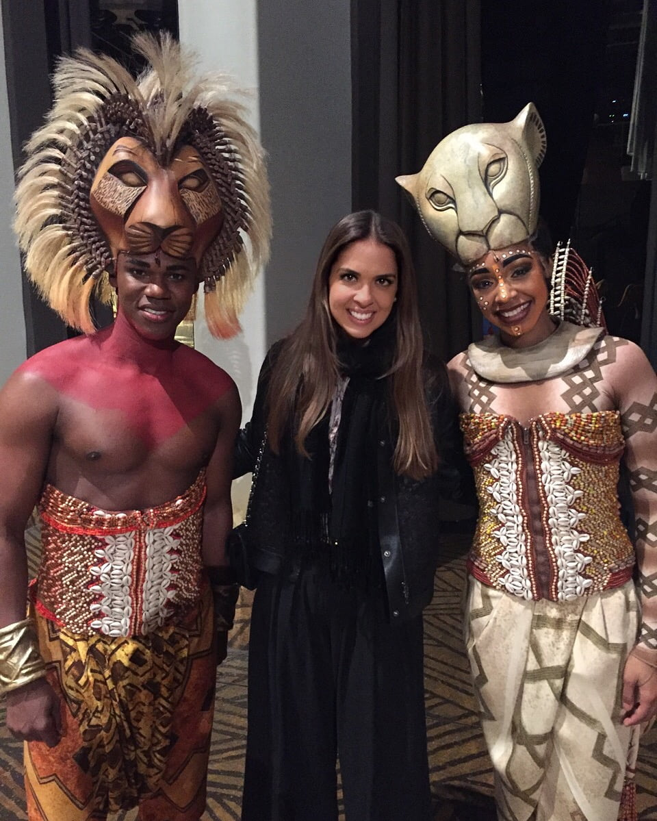 BTSNYC Experiences On Going Broadway Meet and Greet The Lion King Fernanda Paronetto