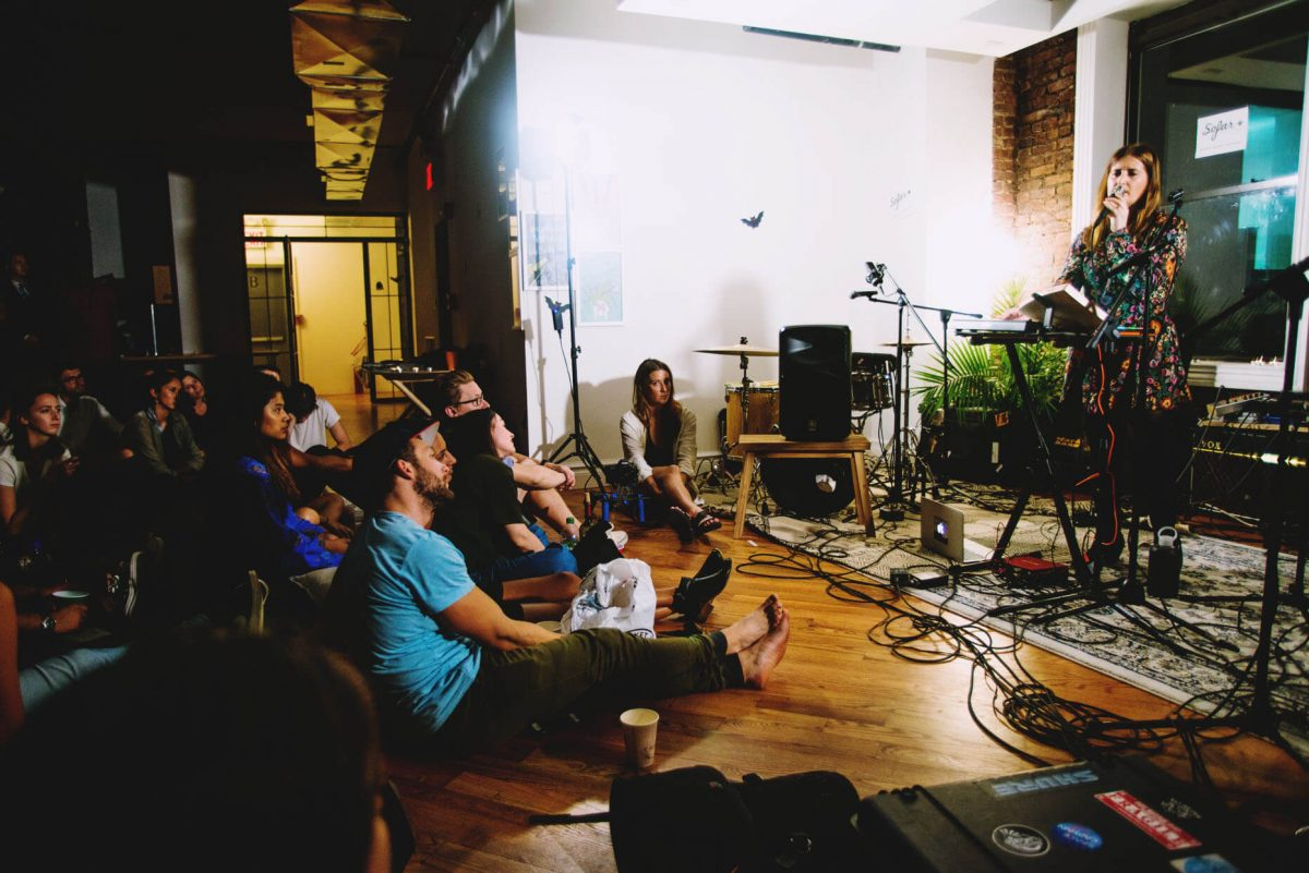 BTSNYC Experiences Up Coming Sofar Sounds NYC Music Girl Singing