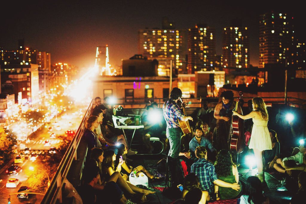 BTSNYC Experiences Up Coming Sofar Sounds NYC Music Rooftop