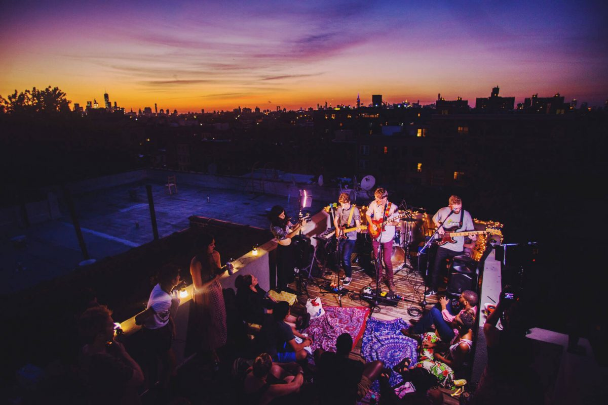 BTSNYC Experiences Up Coming Sofar Sounds NYC Music Sunset Rooftop