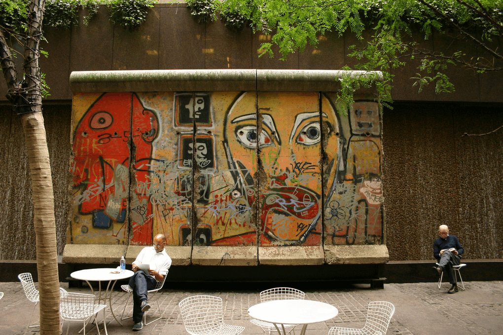 Curiosities City Secrets 10 Top Secrets in New York City Berlin Wall Remnants in Paley Park by Naked Apartments