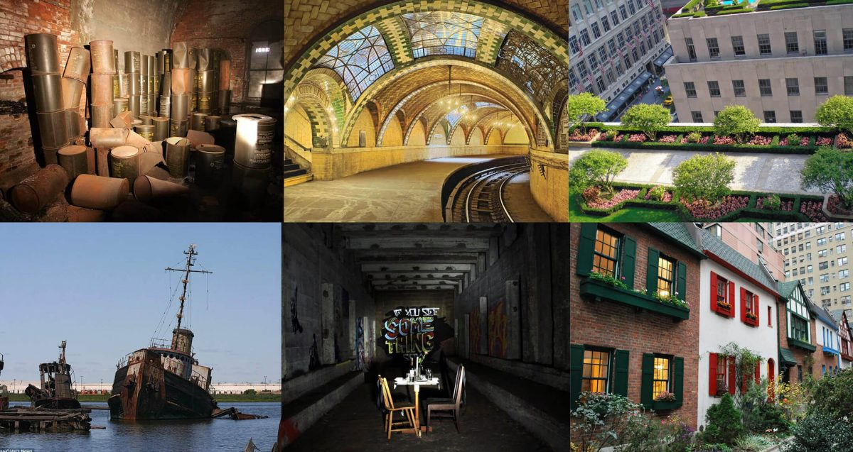 Curiosities City Secrets 10 Top Secrets in New York City Collage