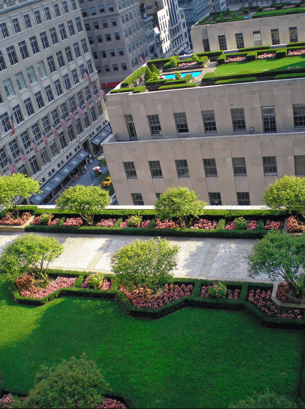 Curiosities City Secrets 10 Top Secrets in New York City Rooftop Gardens Rockefeller Center by Naked Apartments