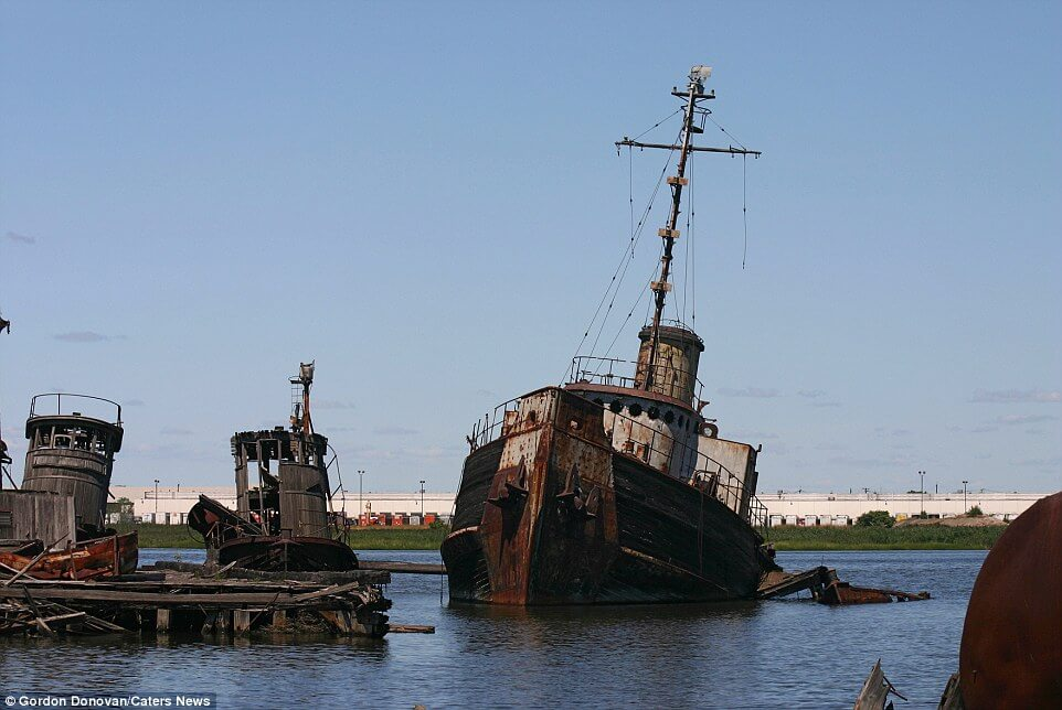 Curiosities City Secrets 10 Top Secrets in New York City Staten Island Boat Graveyard by Gordon Donovan Cater News