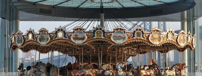 Curiosities City Secrets Janes Carousel Brooklyn Bridge Park by BeHappyNYC