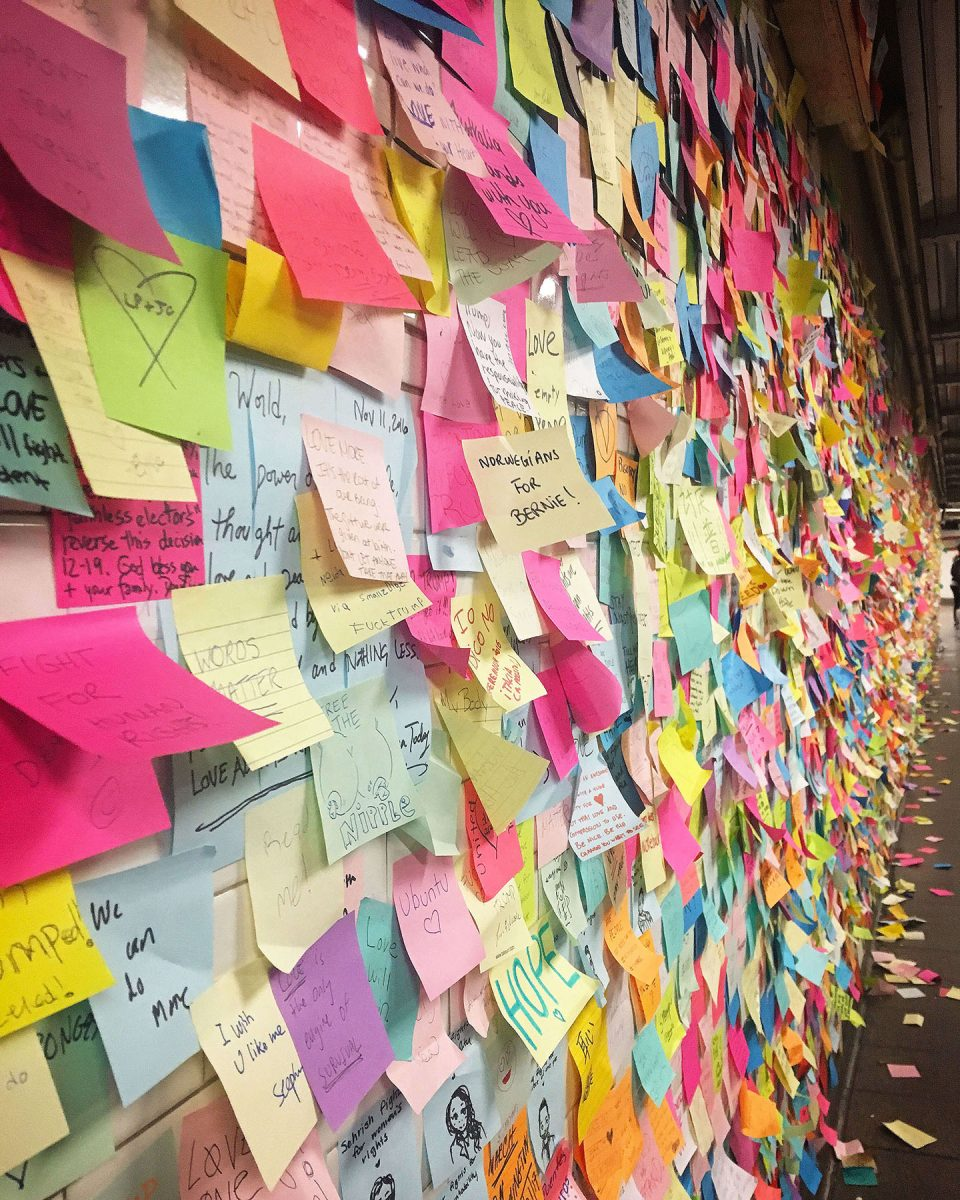 Curiosities City Secrets Subway Therapy Union Square Manhattan Post Its Art