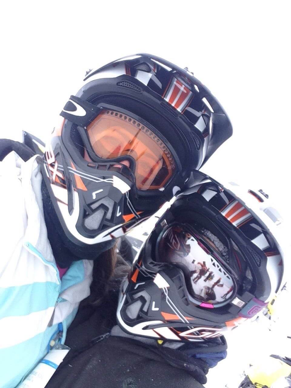 Our Experts Recaps Vail Snow Mobiling Fernanda Paronetto and Friend