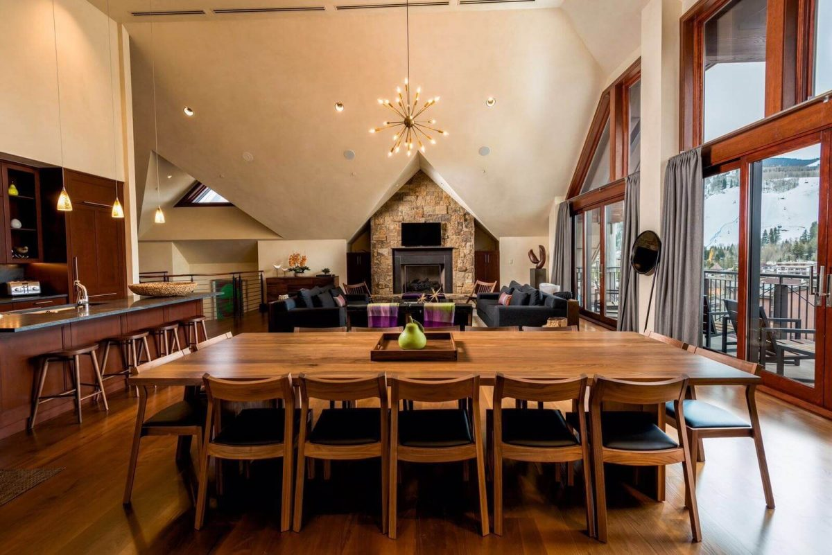 Our Experts Recaps Vail Solaris Residences Penthouse Dining Area