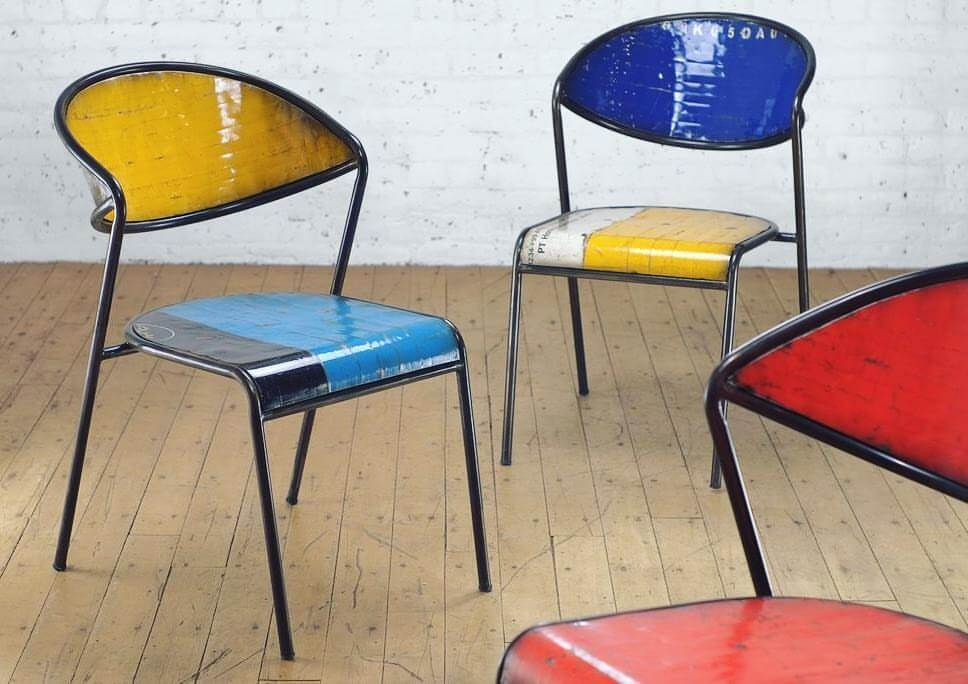 Shop Home and Kids From the Source Sustainable Furnishing Colorful Chairs